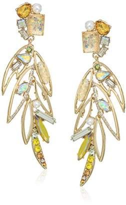Betsey Johnson Critters Bright Linear Drop Earrings