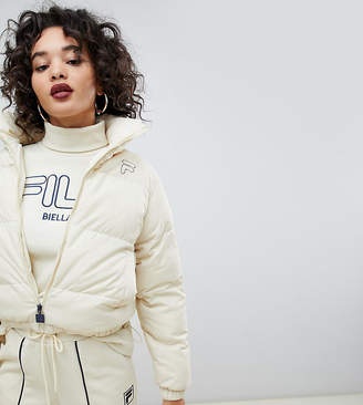Fila padded jacket with logo tape detail