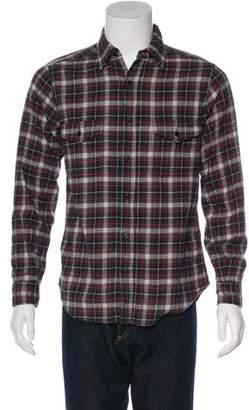 Saint Laurent Plaid Button-Up Shirt