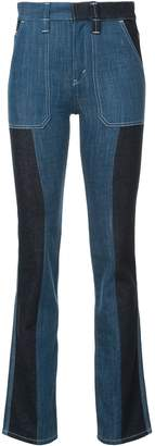 Chloé Panelled Boot Cut Jeans