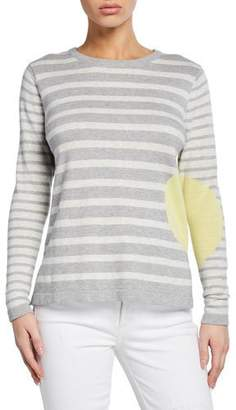 LISA TODD Striped Dot Long-Sleeve Cotton Sweater