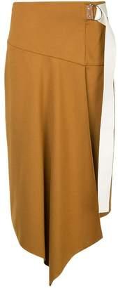 Tibi asymmetric high-waist skirt