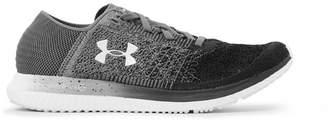 Under Armour Threadborne Blur Stretch-Knit Running Sneakers