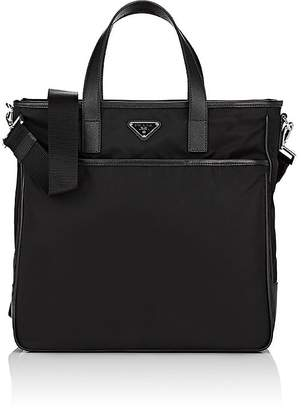 Prada Men's Leather-Trimmed Tote Bag