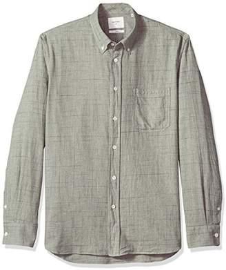Billy Reid Men's Standard Fit Button Down Tuscumbia Shirt, Grey