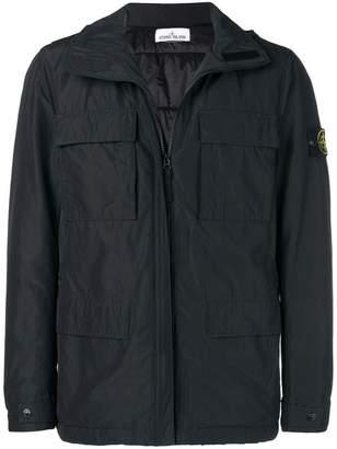 Stone Island zipped fitted jacket