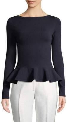 Alaia Women's Wool-Blend Peplum Top