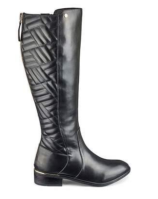 c6e2f1b45b07 Jd Williams Quilt Detail Boots EEE Fit Super Curvy