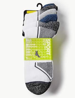 Marks and Spencer 5 Pack Full Leg Trainer Liner Socks