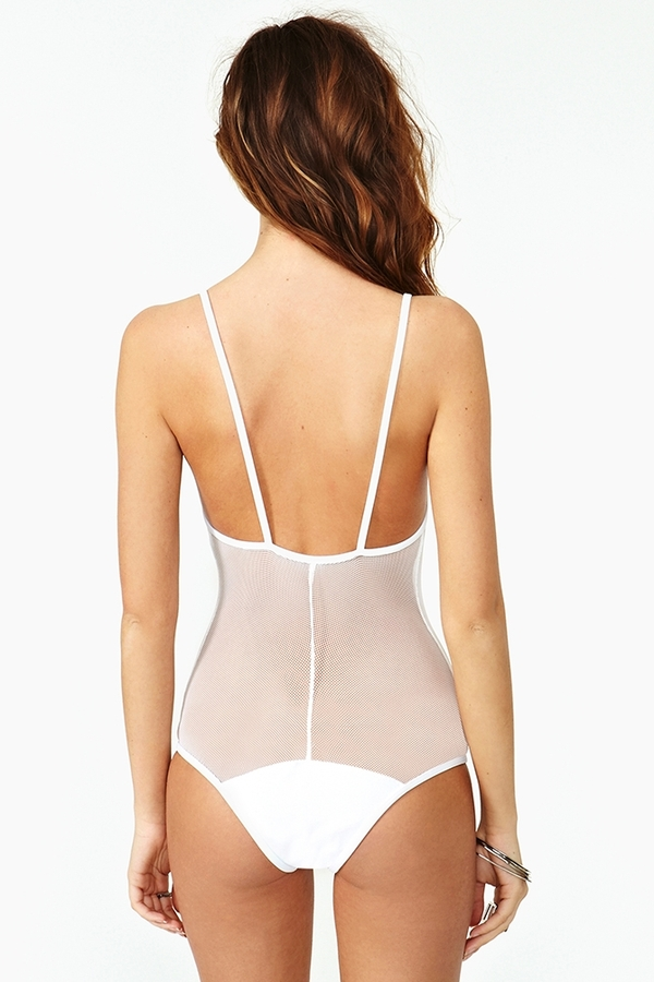 Nasty Gal Golden Triangle Swimsuit