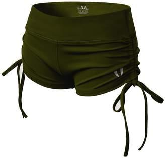 ABS by Allen Schwartz FIRM Women Sport Shorts Gym Workout Waistband Skinny Yoga Elastic Shorts