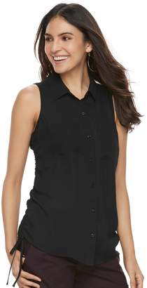 Apt. 9 Women's Ruched Georgette Blouse