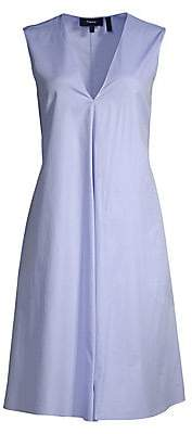 Theory Women's V-Neck Sleeveless A-Line Dress