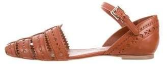 Tod's Laser Cut Ankle Strap Sandals