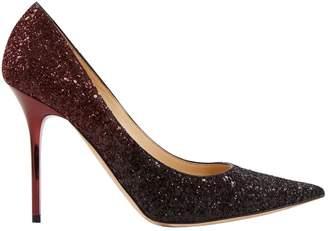 Jimmy Choo Anouk Red Glitter Heels