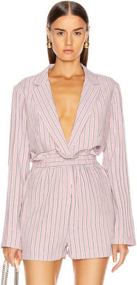 Tibi Oversized Blazer Jacket in Dusty Pink | FWRD
