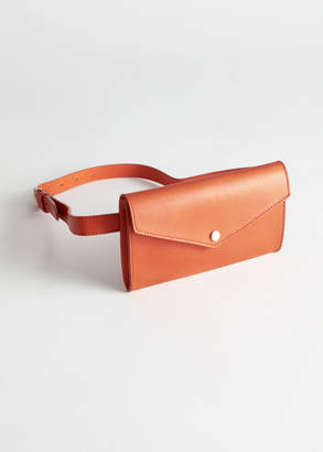 And other stories Leather Envelope Beltbag