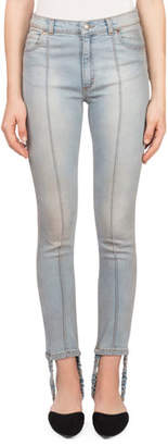 Magda Butrym Benson Skinny Light-Wash Jeans with Stirrup