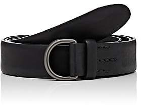 Felisi MEN'S D-RING LEATHER BELT-BLACK SIZE 36