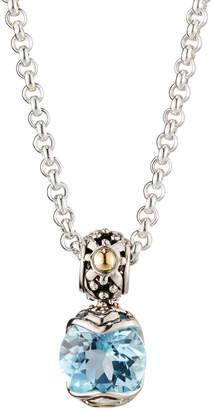 John Hardy Batu Sari Blue Topaz Pendant Necklace