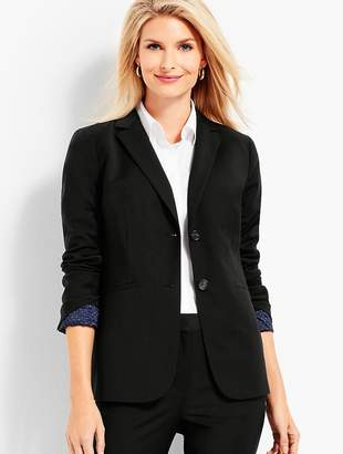 Talbots Seasonless Wool Long Double-Button Blazer