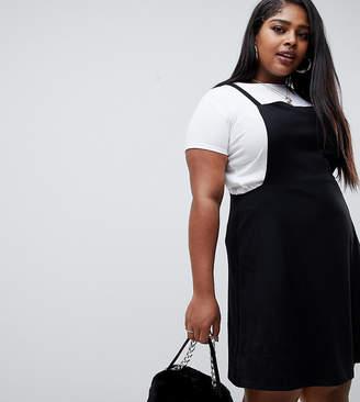 6dfcd4e43d55b Asos DESIGN Curve square neck mini pinafore dress