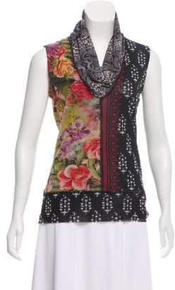 Jean Paul Gaultier Soleil Mixed Print Sleeveless Top