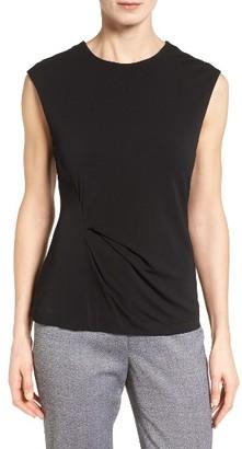 Women's Boss Enovy Sleeveless Side Drape Top $185 thestylecure.com
