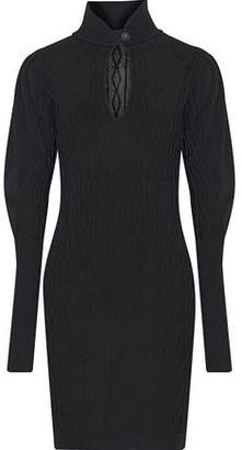 Pierre Balmain Cutout Cable-Knit Mini Dress