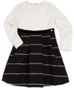 Tartine et Chocolat Little Girl's& Girl's Bi-Material Dress