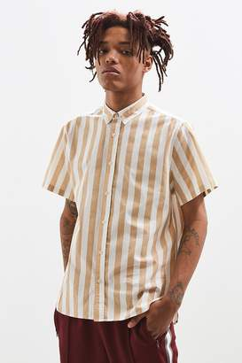 Urban Outfitters Preppy Stripe Short Sleeve Button-Down Shirt