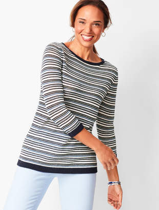 Talbots Linen Stripe Sweater