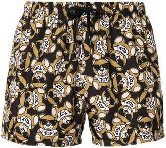 Moschino teddy print swimming trunks