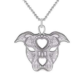 CarterGore - Silver Staffy Pendant Necklace