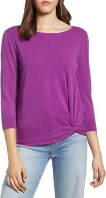 Halogen Front Twist Sweater