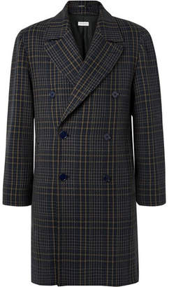 Dries Van Noten Oversized Checked Cotton-Blend Tweed Double-Breasted Coat