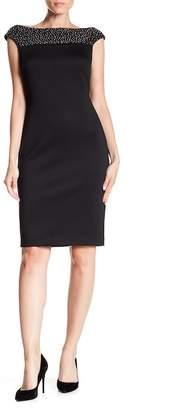 Modern American Designer Bling Yoke Dress