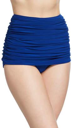 Norma Kamali Bill High-Waist Ruched Bikini Bottom