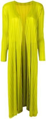 Pleats Please Issey Miyake pleated draped coat
