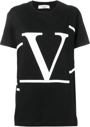Valentino deconstructed Go logo T-shirt