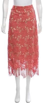 Alice + Olivia Lace Midi Skirt