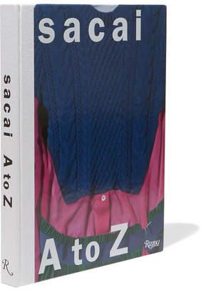 Rizzoli Sacai: A To Z Hardcover Book - Blue