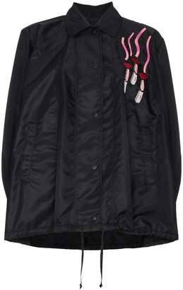 Valentino Lipstick Patch Jacket
