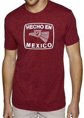 LOS ANGELES POP ART Los Angeles Pop Art Men's Premium Blend Word Art T-shirt - Hecho En Mexico