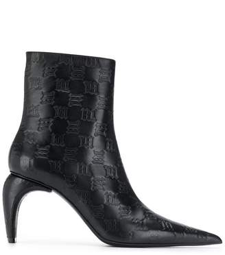 Misbhv curved heel ankle boots