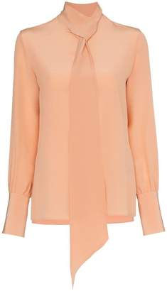 Etro tie neck silk blouse