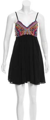 Pilyq Embroidered Mini Dress