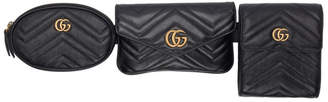 Gucci Black GG Marmont Belt Bag