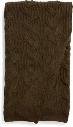Nordstrom Signature Cable Knit Cashmere Throw