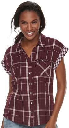 Rock & Republic Women's Cuffed Embellished Shirt